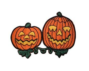Halloween Jack-O-Lantern Pumpkins Applique Patch (Iron on)