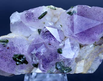 Amethyst with Epidote