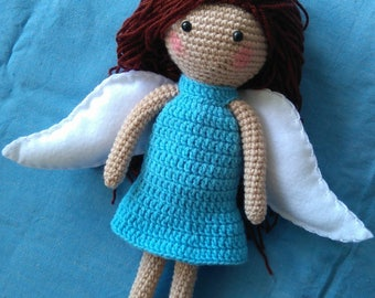 crochet angel toy
