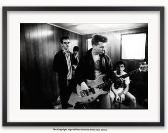 The Smiths - Backstage at Glastonbury 1984 - Poster