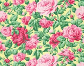 Snapshot Rose Garden Verna Mosquera  Cotton Fabric PWVM113butter