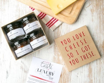 Stocking Stuffers for Men Boys Teens - Chutney Gift Set for Cheese Lovers!