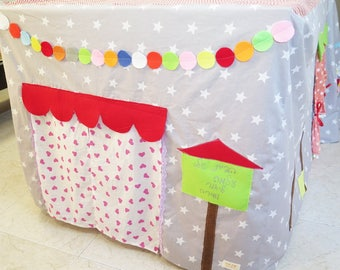 Play tent , kids tent , table playhouse , indoor playhouse , activity toys