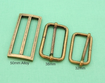 32mm/38mm/50mm Tri-Slide Rings - Antique Bronze - Handbag Hardware Australia
