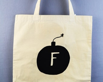 F-Bomb, Tote Bag, Gag Gift, Funny Tote Bag, Xmas, Wrapping Paper