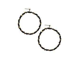 Treasure Bead Hoop Earrings
