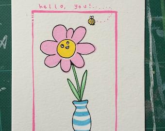 Hello You! Postcard Art