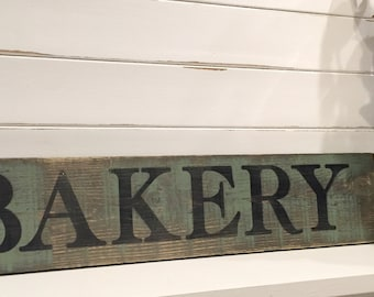 Bakery Sign, Rustic Bakery Sign, Farmhouse Sign, Wooden Bakery Sign