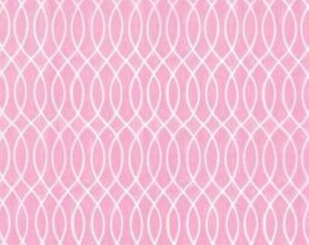 Moda Hugaboo Twirly Pink cotton fabric