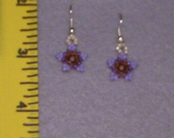 Shades of Purple Star Earrings