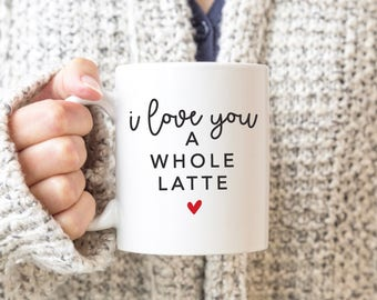 Easter basket birthday i like your face gift for easter mug i love you a whole latte punny mug punny valentines day gift for boyfriend girlfriend husband wife gifts negle Images