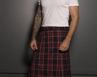 Kilt man kilt fabric Scottish kilt fabric unique kilt tartan kilt done handmade clothing model unique French creation