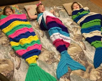 Mary Lynn Crocheted Mermaid Tail Afghan
