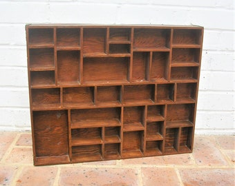 Vintage Shadow Box Vintage Wooden Shadow Box With Brass Corners 35 Sections