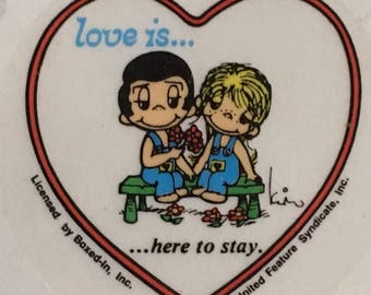 Love is.....here to stay-vintage sticker, 1970