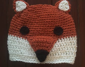 Fox Hat, Crochet Hat