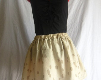 Beige and Brown Spotted Skirt