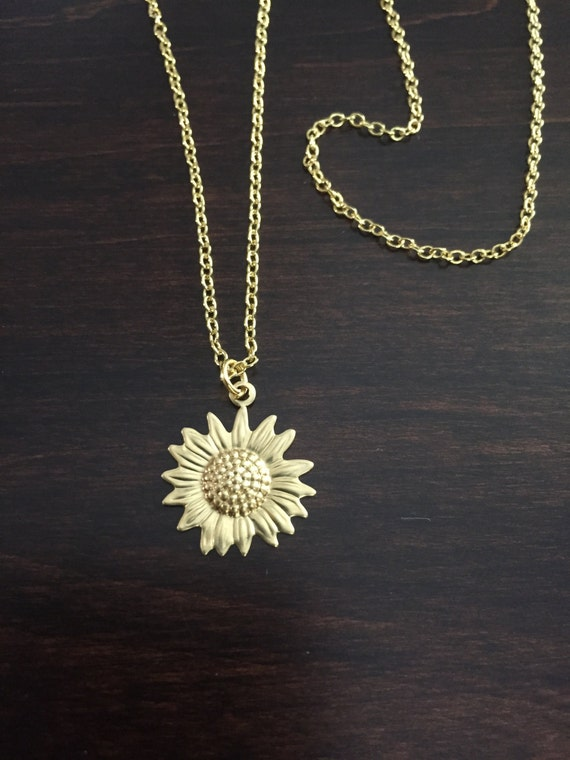 Sunflower necklace sunflower gold sunflower necklace flower aloadofball Image collections