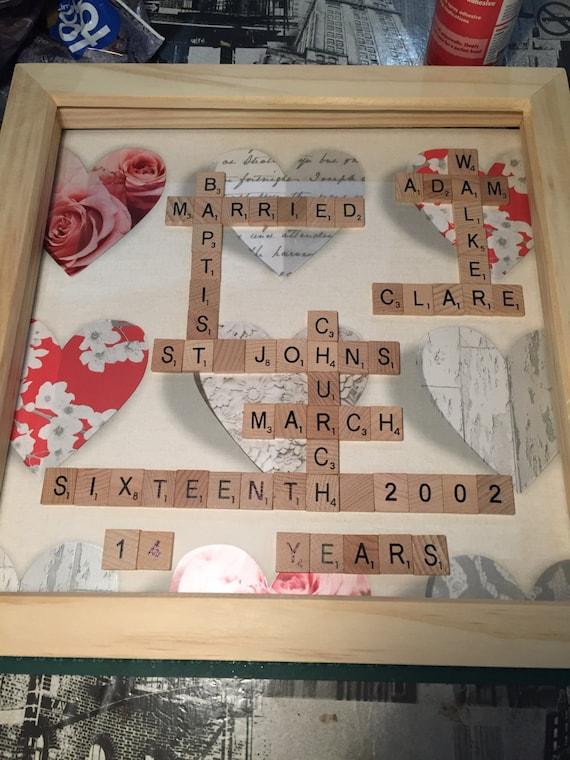 Familiennamen Scrabble Art Rahmen Scrabble-Rahmen