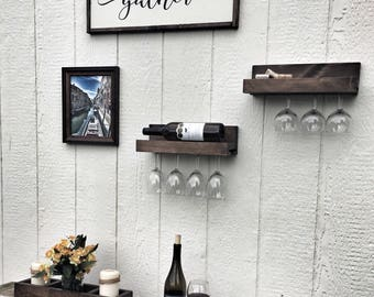 Rustic Wine Shelf
