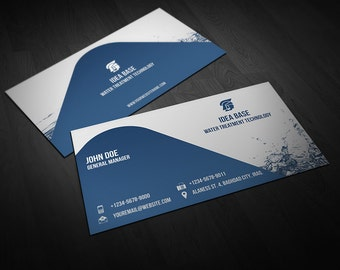Printable Water Technology  Business Card | Business Card Template | Card Template | Photoshop Template | Instant Download Vol.1