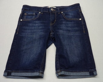 Vintage Levi's Bermuda Shorts size girls 14 REG dark blue   #91
