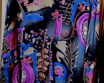 Blouse  Designer SUSAN BURROWES  / Top Over Blouse /Large / Full Size Classic Elegance Multi Colors/ Retro/ Boho /Women's Clothing