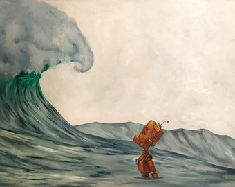 Wave Robot Painting Print