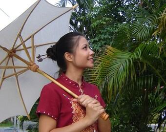 White parasol size M