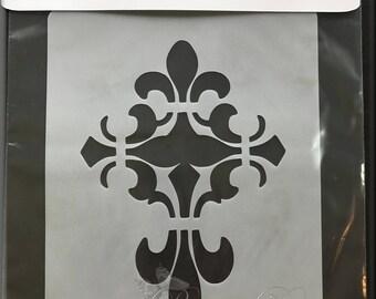 """Fluer Cross Stencil 5 1/4 x 7 1/2"""""""