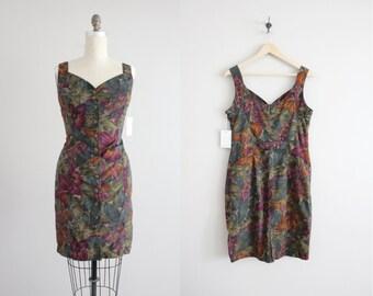 floral tank dress / fitted floral dress / short dress