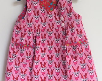 Baby pinafore dress size 4-6M, baby dress size 4-6 M, baby girl wrap dress