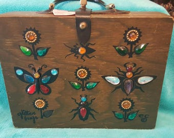 Enid Collins 1966 Glitter Bug Box Bag/ Purse