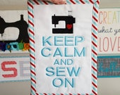 Keep Calm and Sew On Wall...