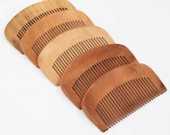 Custom Engraved Beard Comb, Thin Beard Comb, Custom Beard Comb