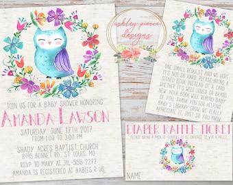 Owl baby shower Etsy