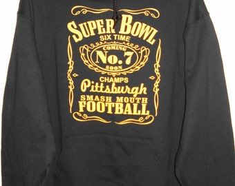 Pittsburgh Steelers Six Time Champs Hoodie Size Adult L-5XL Pittsburgh Steelers Football Super Bowl Six Time Champions Black & Gold New! 63eCQ