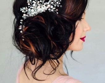 Bridal Hair Comb Wedding Hair Accessories Bridal Hairpiece Crystal Pearl Hair Piece Bridal Headpiece Wedding Headpiece Crystal Hair Comb