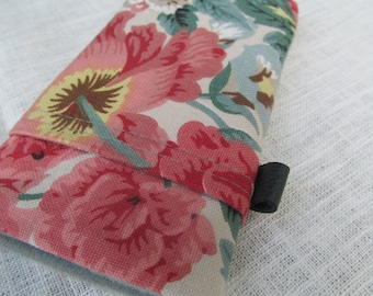 iphone 6 / iphone 6 plus / Samsung s5 s6 / Floral Cotton Linen sleeve