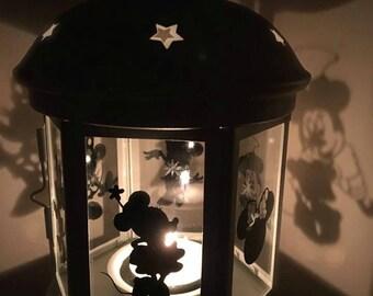Minnie Mouse Inspired Lantern, Tea light Holder,  Lantern, Candle Glow Gift set