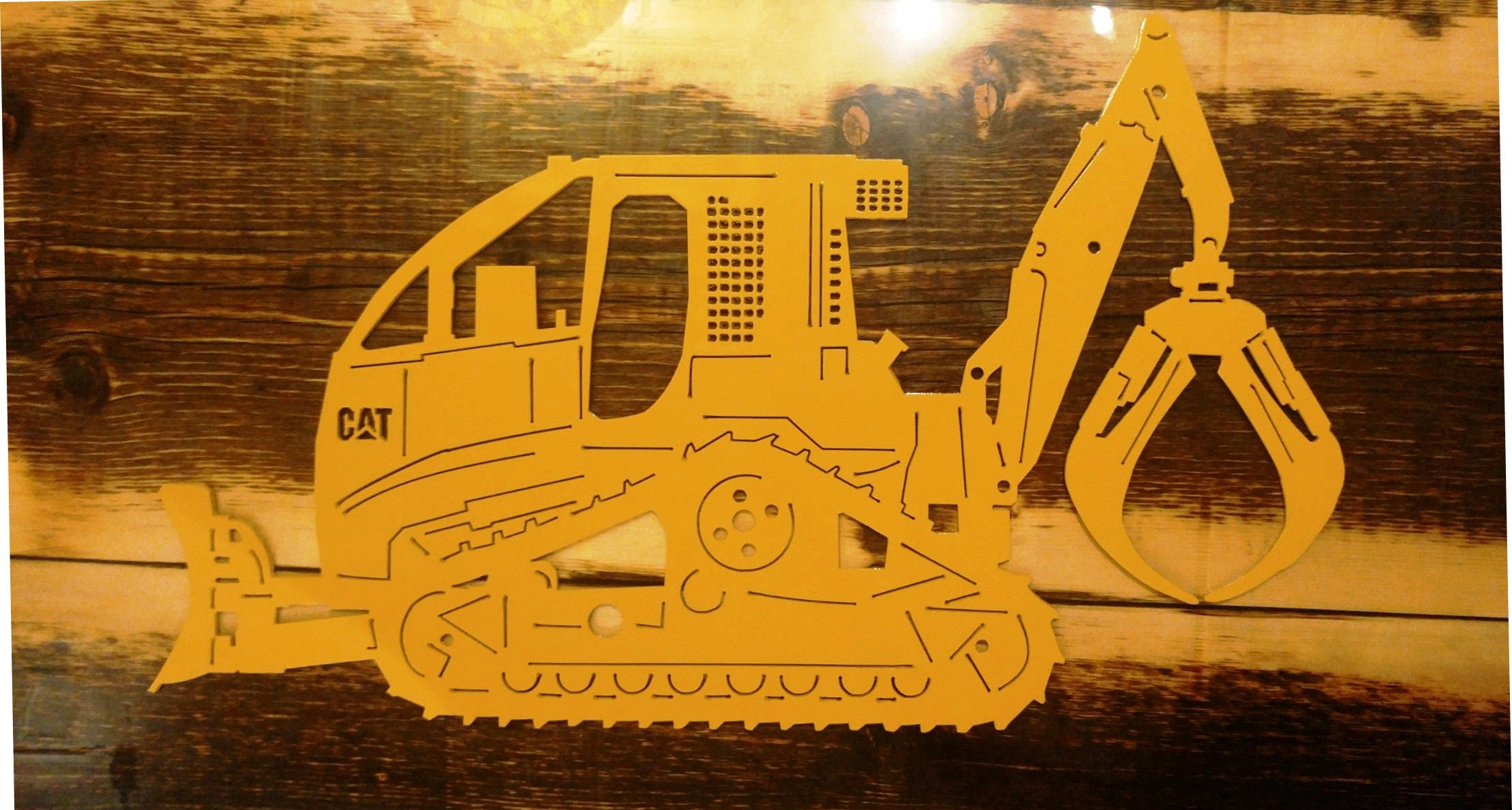 Custom Metal CAT Swing Grapple Tracked Skidder Can be