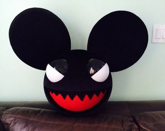 Black evil mouse head costume cosplay rave deadmau5 inspired
