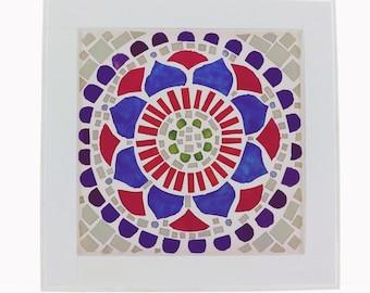 Energy Mandala of Calm & Serenity Visual Energy Balancing Meditation Handmade