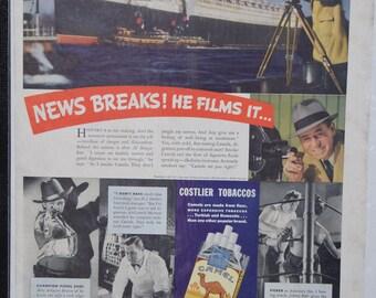 1937 Camel cigarettes magazine ad