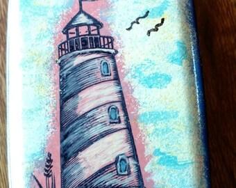 Lighthouse aluminum wallet
