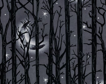 Fright Night Halloween Fabric by Henry Glass- 100% Cotton High Quality Quilting Fabric