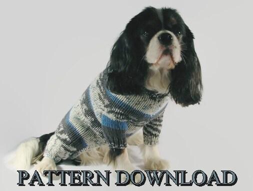 Dog sweater pattern Knit dog sweater Dog knit sweater Knitting ...