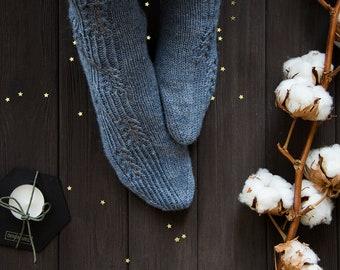 Wool socks Lace socks Womens knitted socks Winter socks Spring socks Hand knit socks Warm socks Leg warmers Gift for her - READY TO SHIP
