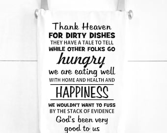 Dirty Dishes Prayer Kitchen Tea Towel Easter Gift Easter Decoration