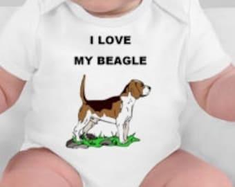 I love my beagle baby tee - beagle gift - beagle owner - beagle - beagles - Love My Beagle - Beagle gifts - new baby gift - cute baby gifts